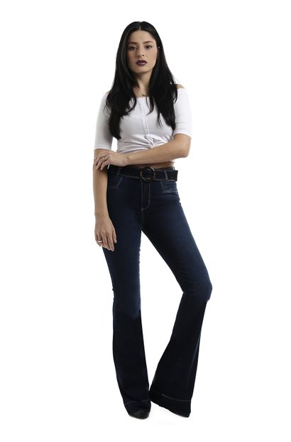 Calça Jeans Feminina Flare - 258607