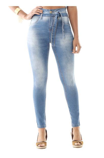 Calça Jeans Feminina Skinny  Clochard - 259195