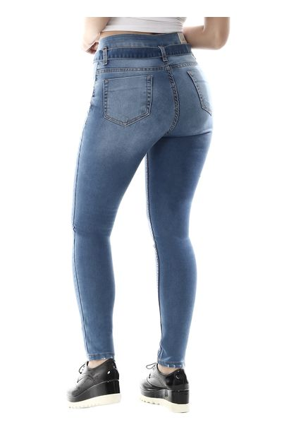 Calça Jeans Feminina Skinny Clochard - 259321