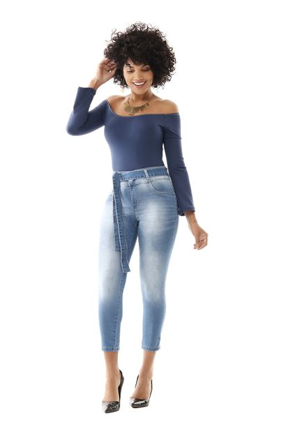 Calça Jeans Feminina Copped Clochard - 259460