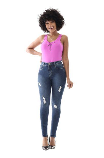 Calça Jeans Feminina Skinny Compressora - 258701