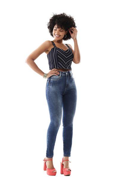 Calça Jeans Feminina Cigarrete Super Lipo - 258752