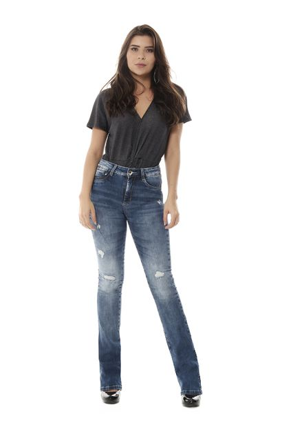 Calça Jeans Feminina Flare Push Up - 258371