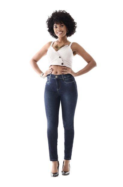 Calça Jeans Feminina Cigarrete Super Compressora - 259212