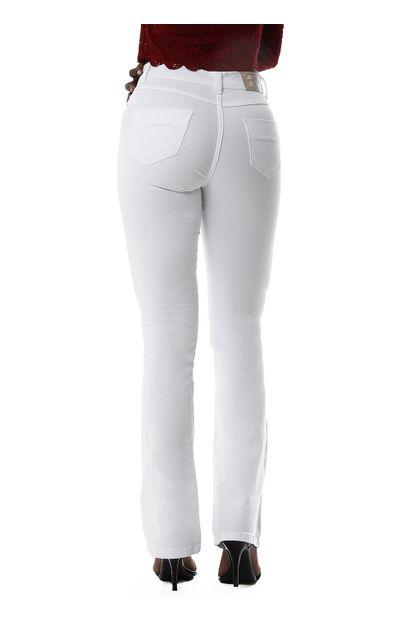 Calça Jeans Feminina Flare Branca - 259905