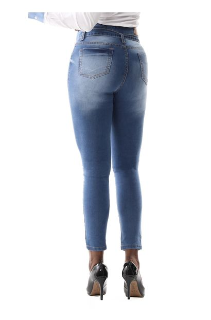 Calça Jeans Feminina Skinny Clochard - 259332