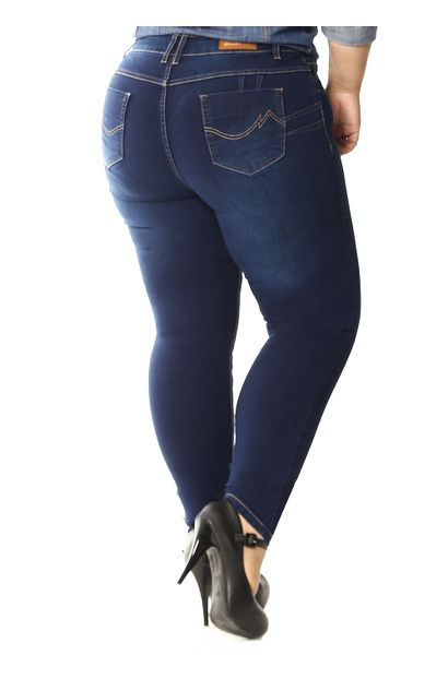 Calça Jeans Feminina Skinny Plus Size - 258313