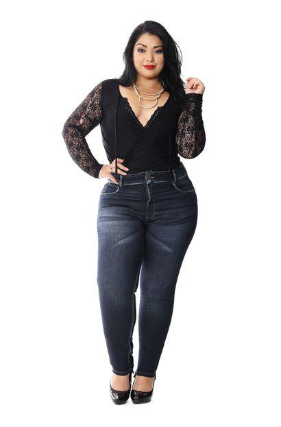 Calça Jeans Feminina Cigarrete Plus Size - 258246