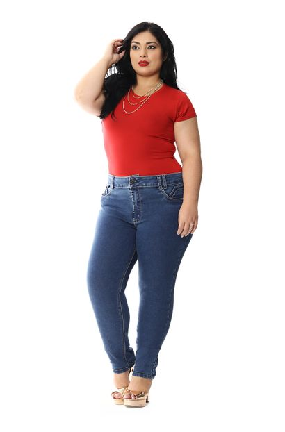 Calça Jeans Feminina Skinny Plus Size - 258799