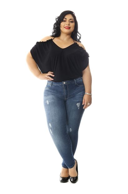Calça Jeans Feminina Cigarrete Plus Size - 258791
