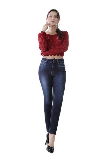 Calça Jeans Feminina Cigarrete Super Compressora - 259419