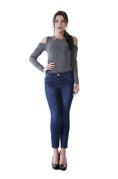 Calça Jeans Feminina Cropped Levanta Bumbum - 259784