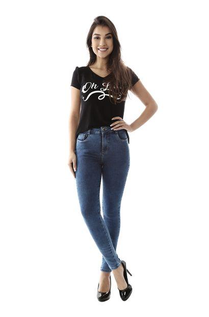 Calça Jeans Feminina Skinny Compressora - 259416