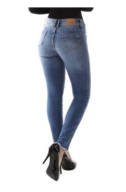 Calça Jeans Feminina Cigarrete Destroyed - 259175