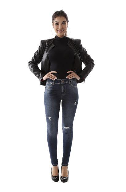 Calça Jeans Feminina Skinny Levanta Bumbum - 259348