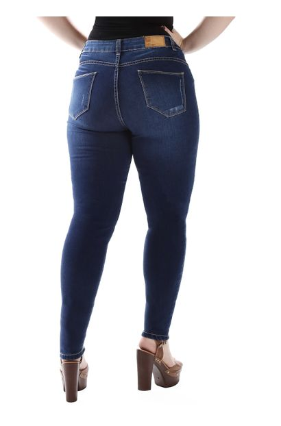 Calça Jeans Feminina Cigarrete Plus Size - 259447