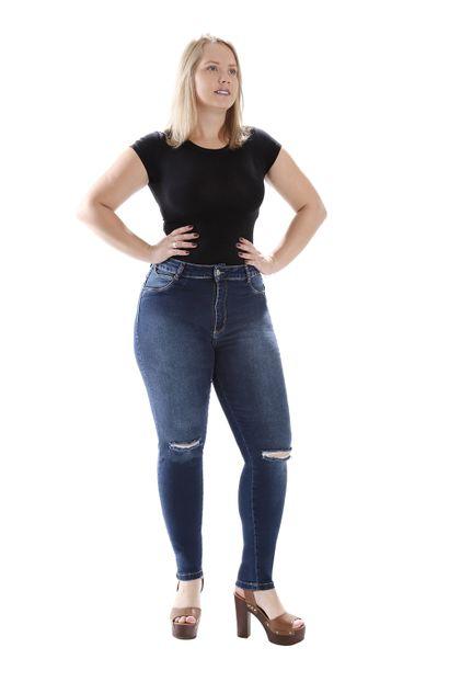 Calça Jeans Feminina Cigarrete Plus Size - 259109