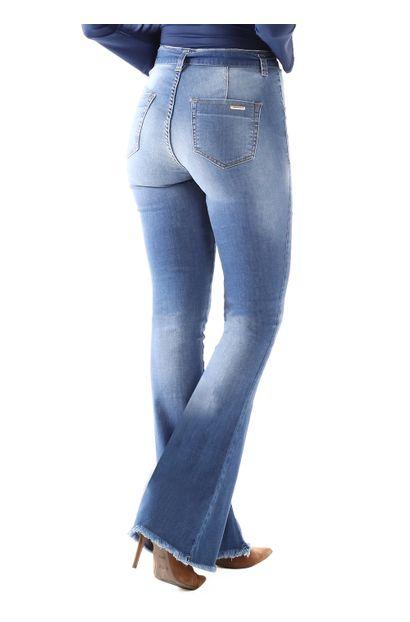 750999766 Calça Jeans Feminina Flare Boot Cut - 259608