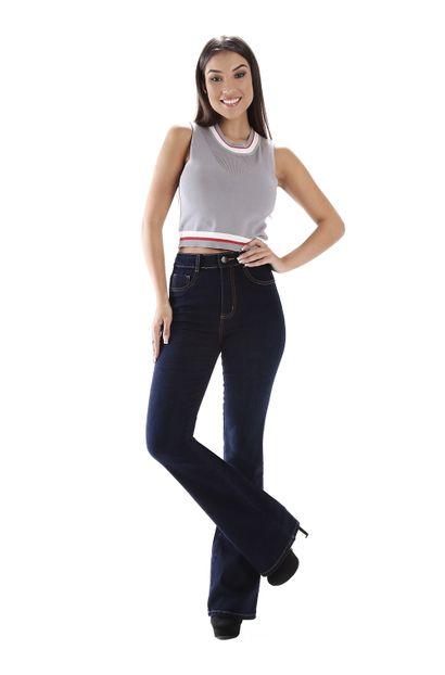 Calça Jeans Feminina Flare Super Lipo - 258923