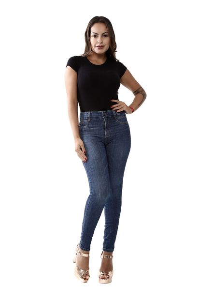 Calça Jeans Feminina Cigarrete Super Compressora - 259821