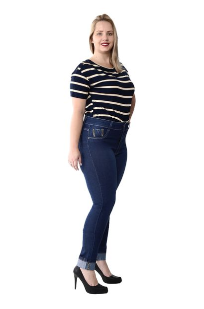 Calça Jeans Feminina Cigarrete Plus Size - 259788