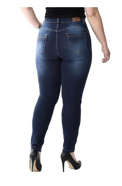 Calça Jeans Feminina Skinny Compressora Plus Size - 259846