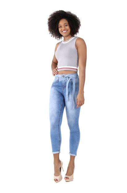 Calça Jeans Feminina Skinny Clochard - 259580