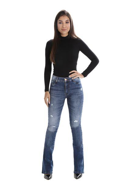 Calça Jeans Feminina Flare Boot Cut - 259758