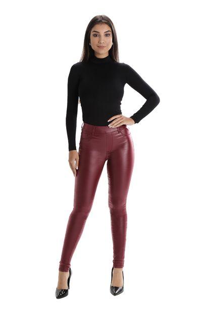Calça Jeans Feminina Cigarrete Vinho - 260376