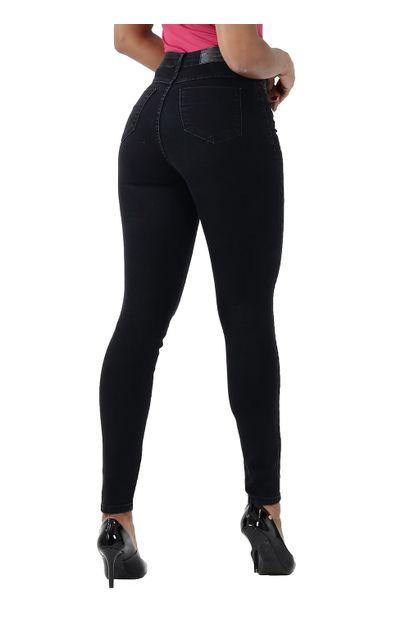 Calça Jeans Feminina Cigarrete Preta - 259901