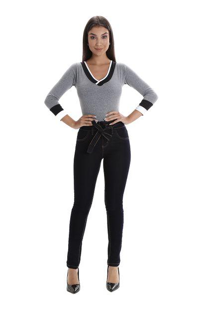 Calça Jeans Feminina Skinny Clochard- 260427