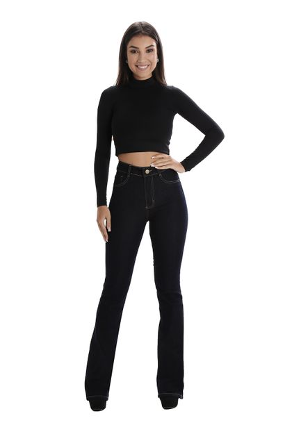 Calça Jeans Feminina Flare Super Lipo - 260232