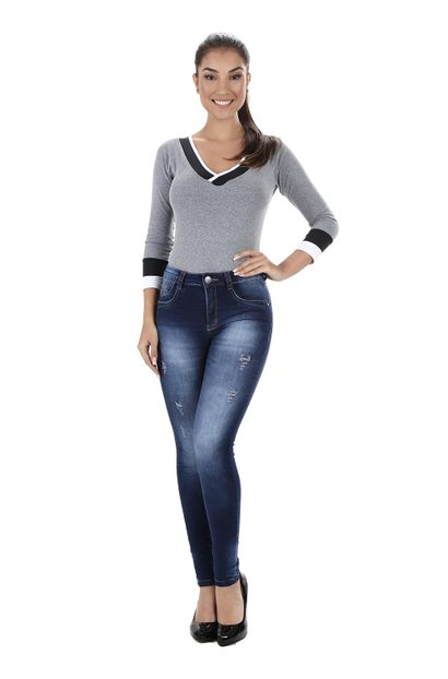 Calça Jeans Feminina Skinny - 259628