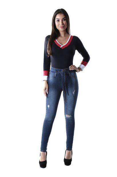 Calça Jeans Feminina Skinny Clochard - 259808