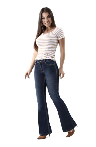Calça Jeans Feminina Flare - 259913