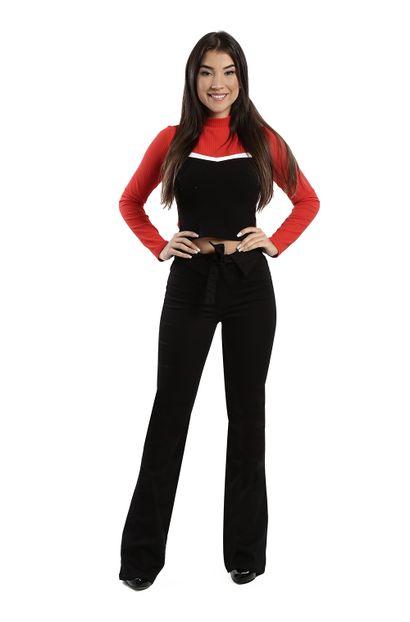 Calça Jeans Feminina Flare Preta - 260037