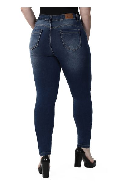 Calça Jeans Feminina Skinny Compressora Plus Size - 259844