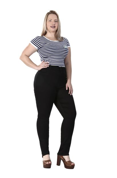 Calça Jeans Feminina Cigarrete Plus Size - 260236