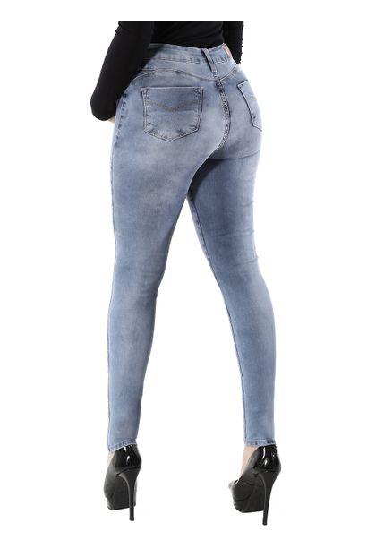 Calça Jeans Feminina Cigarrete Push Up - 260254