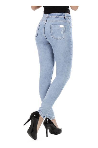 Calça Jeans Feminina Skinny Clochard - 260053