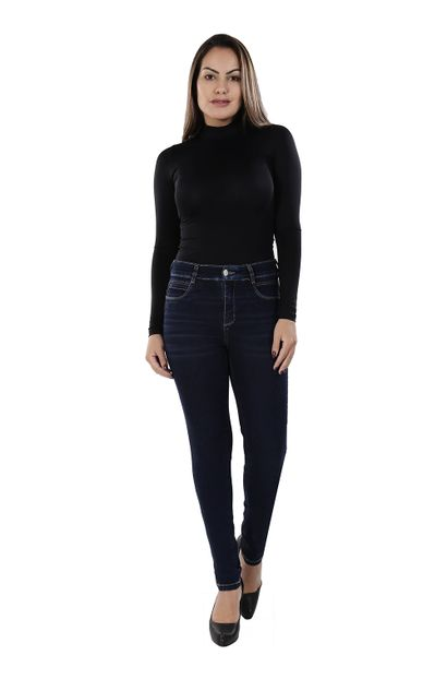 Calça Jeans Feminina Cigarrete Super Compressora - 259838