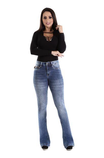 Calça Jeans Feminina Flare - 259947
