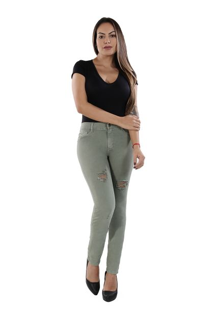 Calça Jeans Feminina Legging Hot Pants - 261038