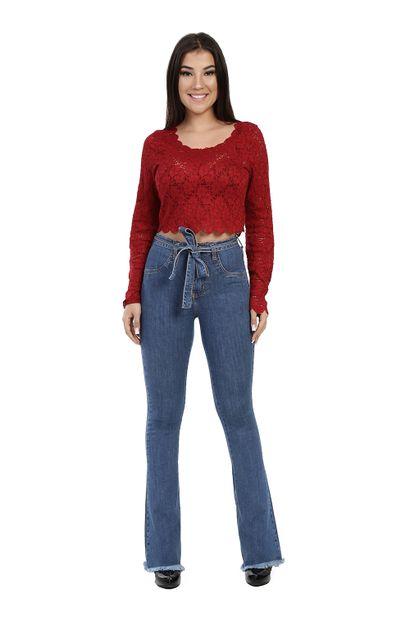 Calça Jeans Feminina Flare boot cut - 259931