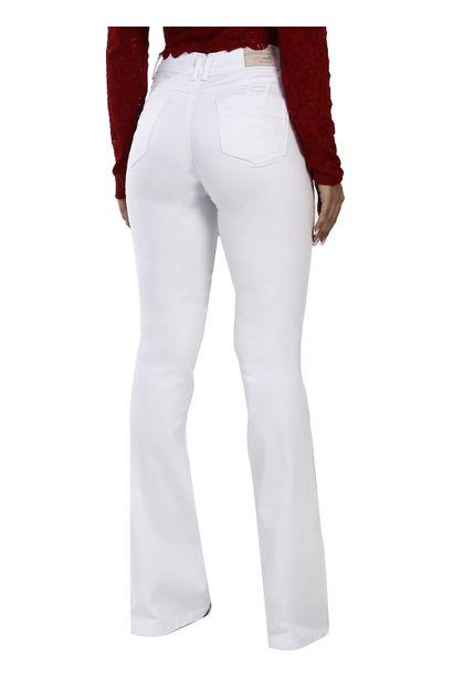 Calça Jeans Feminina Flare Branca - 260179