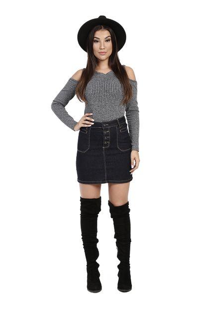Saia Jeans Feminina - 260332