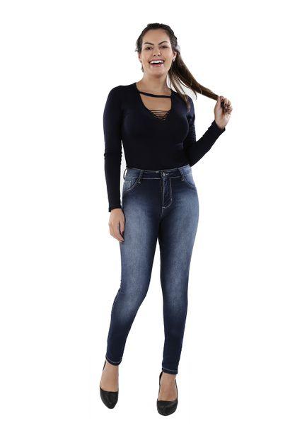 Calça Jeans Feminina Legging - 259833
