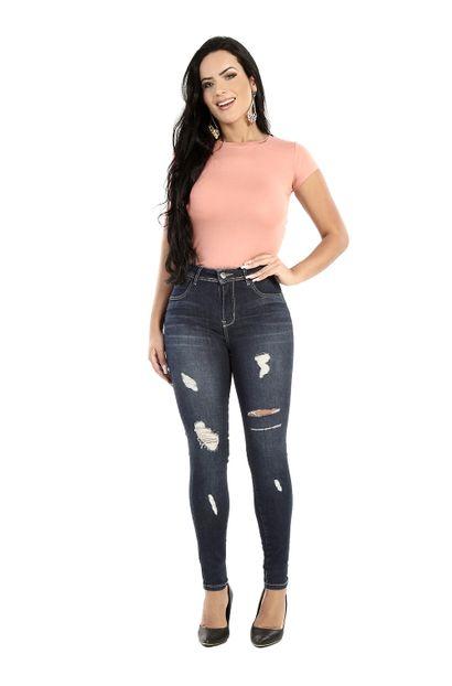 Calça Jeans Feminina Skinny Levanta Bumbum - 260750