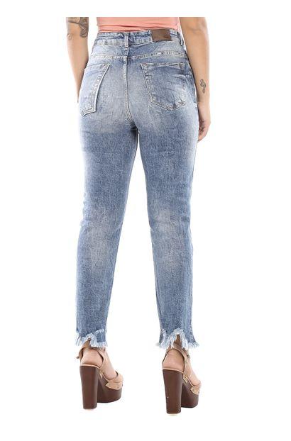 Calça Jeans Feminina Reta Destroyed - 260375