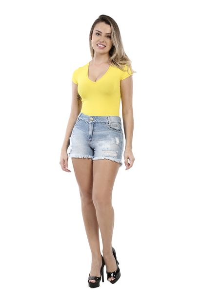 Shorts Jeans Feminina Boyfriend - 260263